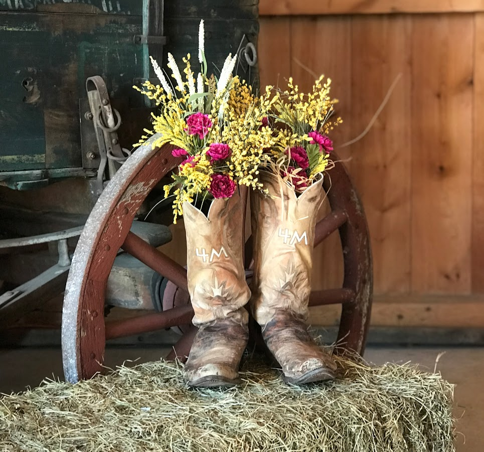 These Boots Are Made for…Flowers
